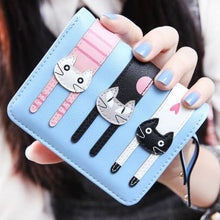 Yoga Kittens Wallet Sky Blue Wallet