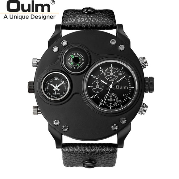 New Style Two Time Zone Men's Watches Fashion Casual Male Quartz Sport Wristwatch Dropshipping