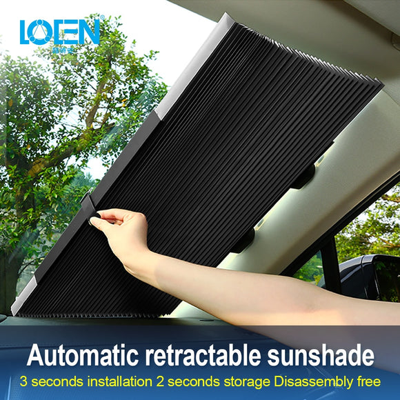 Car Window Sunshade Retractable Foldable Windshield Sunshade Cover Shield Curtain Auto Sun Shade Block Anti-UV Car Window Shade