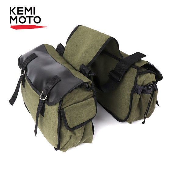 KEMiMOTO Motorcycle Bags Saddlebag Luggage Bags Travel Knight Rider For Touring For Triumph Bonneville For Honda shadow