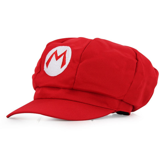 Anime Super Mario Hat Cap Luigi Bros Cosplay Baseball Costume