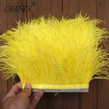 High quality fluffy ostrich feather trimming cloth sideband 98cm long DIY clothing accessories decorative accessories 8-11cm