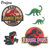 Prajna Jurassic Park Dinosaur Iron on Embroidered Patch For Clothes Jeans Sew On Clothing Diy Animal Applique Accessories E