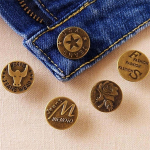 10Pcs/Set 20MM Metal Buttons High Quality Bronze Tone Jean Buttons Mixed Button Clothing Accessories