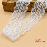 Beautiful 10 Yards White Lace Ribbon Wide french african lace fabric lace trimmings for sewing accessories Embroidered Clothing