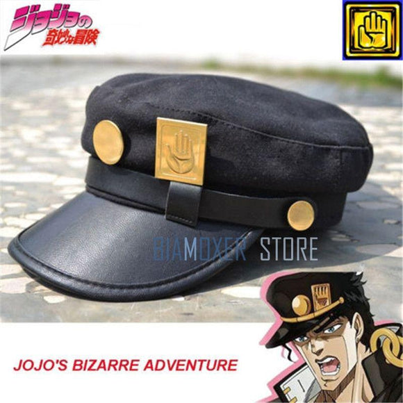 Bimaoxer Anime JoJo's Bizarre Adventure Jotaro Kujo Joseph Army Military JOJO Cap Hat+Badge Animation around Free shipping