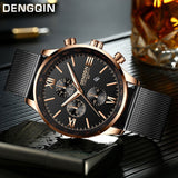 DENGQIN Men's Wrist Watch Stainless Steel Casual Quartz Analog Date Watch Man watches mens 2019 men wristwatch clock