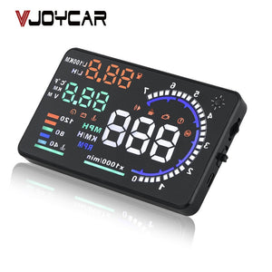 "OBD2 HUD Car Head Up Display 5.5"" LED Windscreen Projector OBD Scanner Speed Fuel Warning Alarm Data Diagnostic Tool"