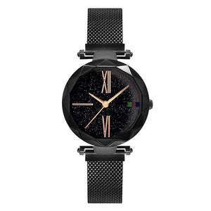 Charming Purple Women Watches Minimalism Casual Starry Sky Lady Wristwatch Magnet buckle Fashion Luxury Brand Female Watch Gift