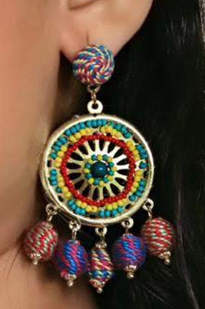 Zoi Stella Sunshine Multi Color Beaded Earring