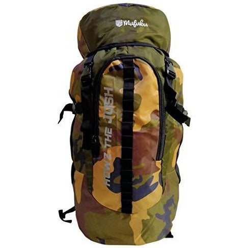 Camouflage 45 Ltr  Army Green Rucksack Bag with Rain Cover