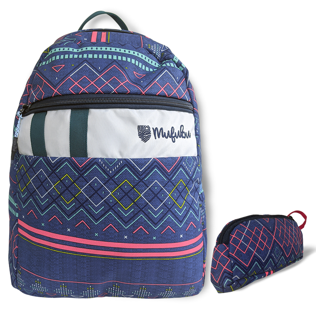 Gini' N' Poko Kids Backpack- Checks & Geomatric