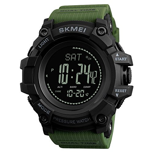 SKMEI Digital Pedometer Sport Watch Army Green