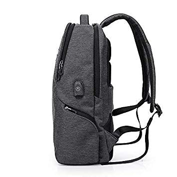 Laptop Bags Travel Backpack with Waterproof and USB Charging Facility for Men by Kaka - Black