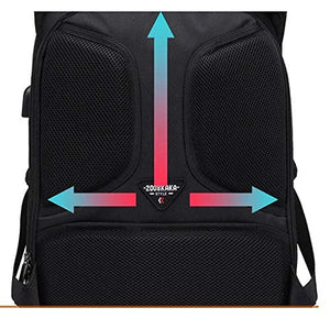 Business Laptop Backpack with USB Port for Men by Kaka - Black