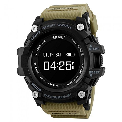 SKMEI 1188 Bluetooth Digital Smart Watch- Khaki