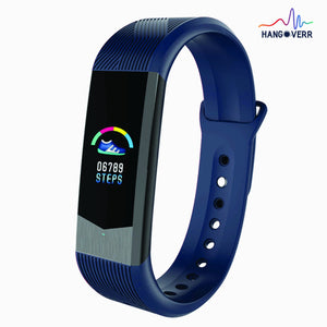 Hangoverr Power Beat Plus Water Resistant Fitness Activity, Functions Heart Rate and Blood Pressure Smart Tracker Band (Blue)