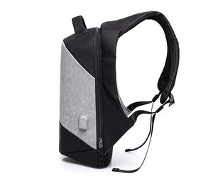 MUFUBU Presents Smart USB Charging Anti Theft Backpack by Kaka - Grey