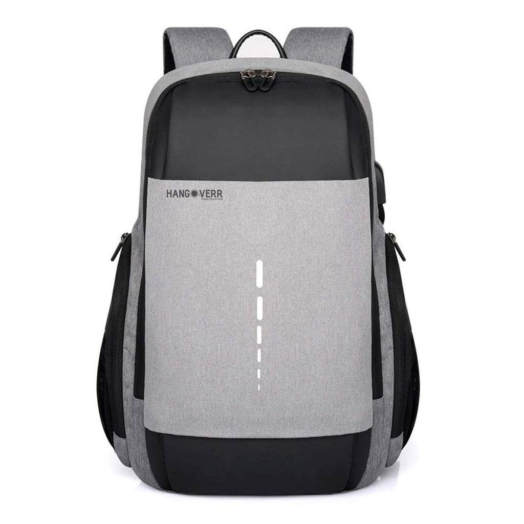 Hangoverr Laptop Backpack with TSA Lock and USB Port (Grey)
