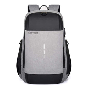 MUFUBU Presents Hangoverr Laptop Backpack with TSA Lock and USB Port (Grey)