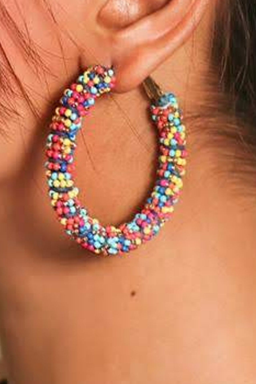 Zoi Stella Splashy Color Beaded Danglers