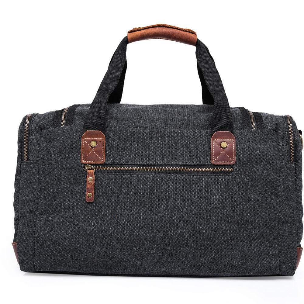 MUFUBU Presents Large Capacity Water Resistant Canvas Luggage Duffel Bag by Kaka - Black