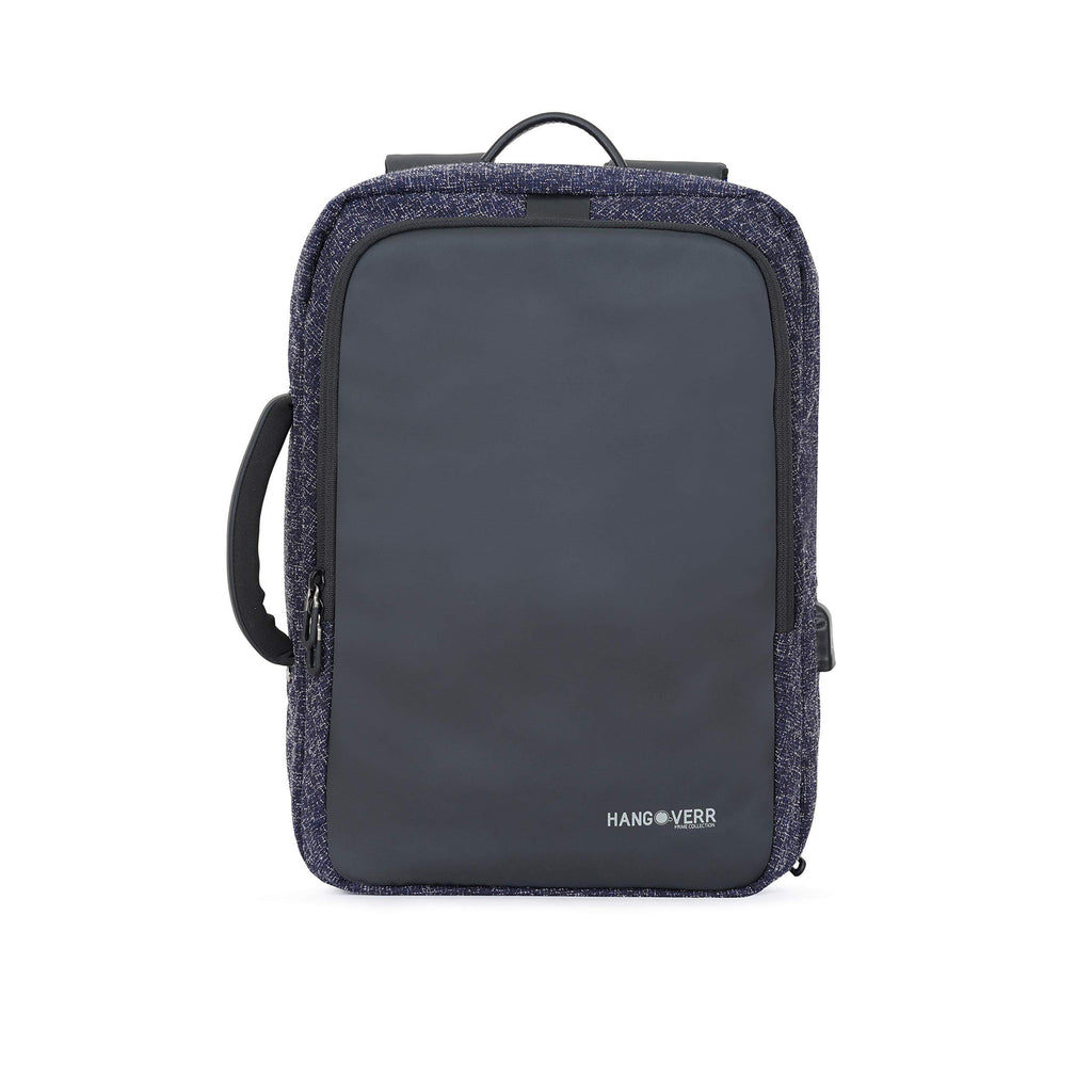 MUFUBU Presents Hangoverr Laptop Bags for Men with USB Port and Security Pocket (Blue)