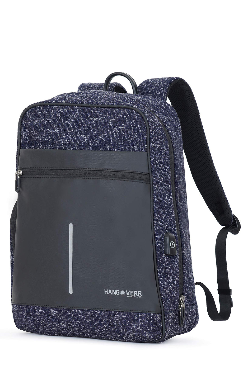 Hangoverr Anti Theft Laptop Backpack with USB Port and Security Pocket - Blue