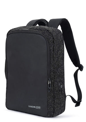 Hangoverr Laptop Bags for Men with USB Port and Security Pocket (Black)