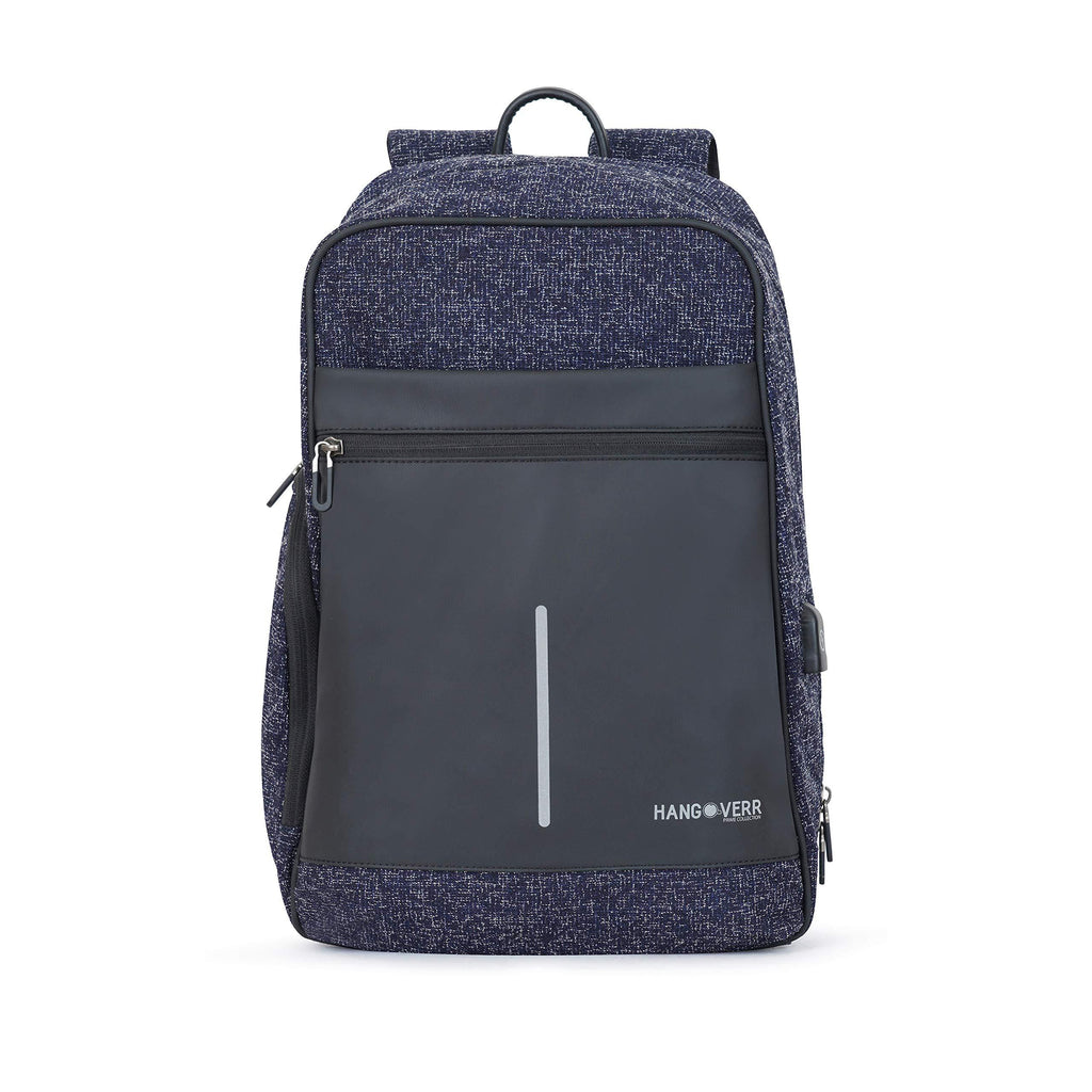 MUFUBU Presents Hangoverr Anti Theft Laptop Backpack with USB Port and Security Pocket - Blue
