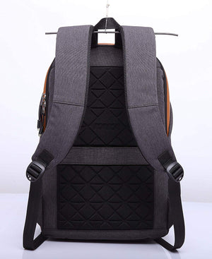 Oxford Fabric Black Anti Theft Laptop Backpack with USB Cable and In-Built Charging Port