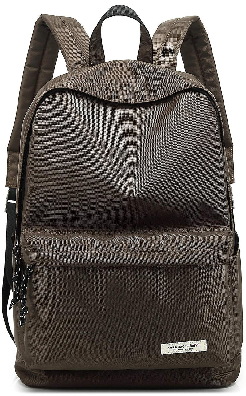 KAKA Laptop Bag for Students with Water Resistant Fabric and Outer Front Pocket- Color Coffee