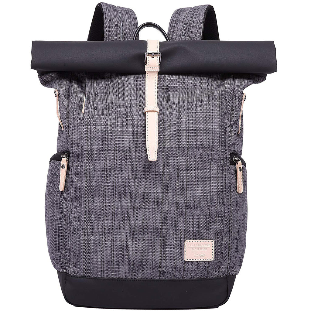 Kaka Classic Fashion Backpack - Grid Grey