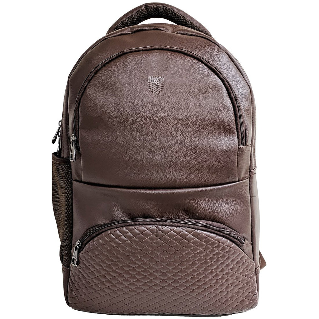 Brown German Faux Leather 17 inches Laptop Backpack