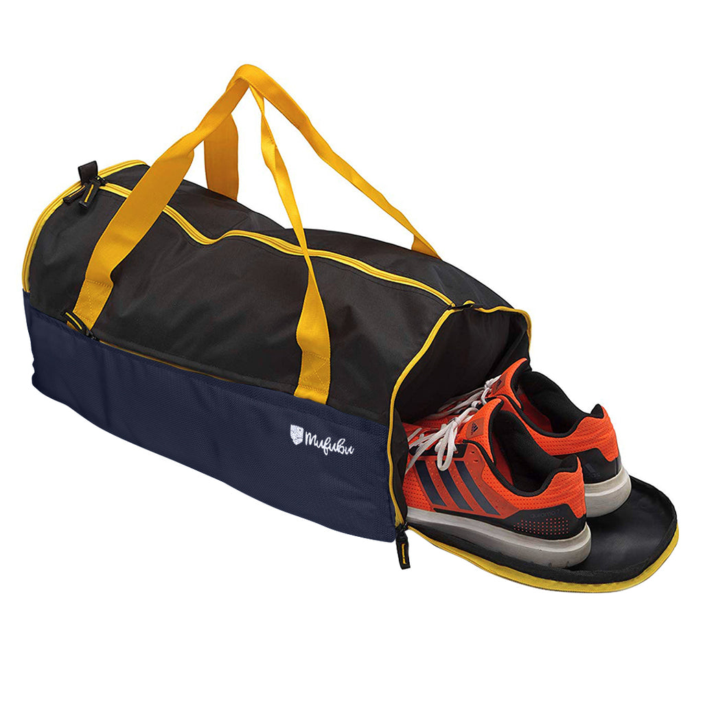 Buddys Duffle Gym Bag 32 Ltr - Navy Blue & Black
