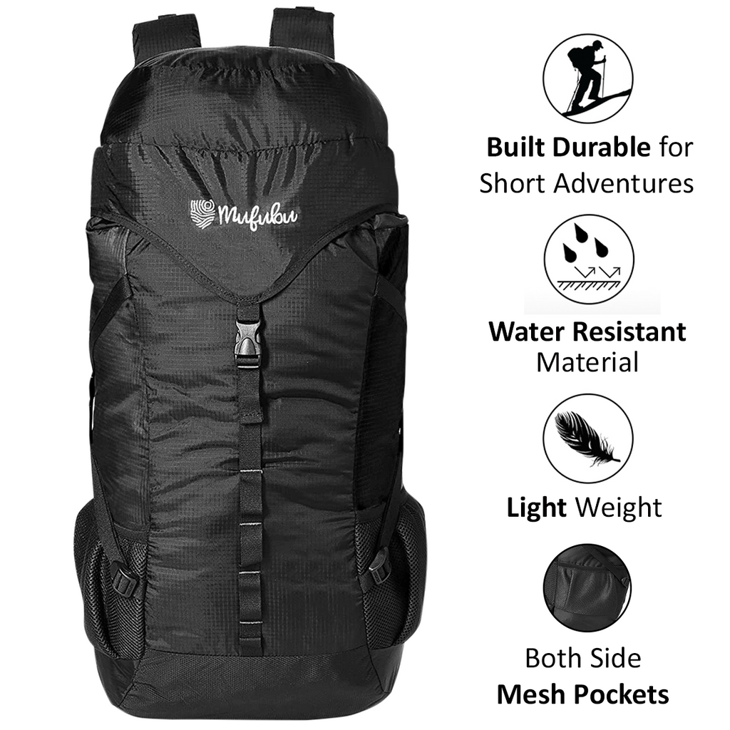 Mufubu Fearless 60 LTR Rucksack Bag - Black