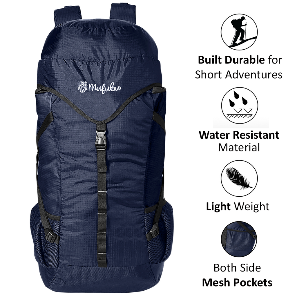 Mufubu Fearless 60 LTR Rucksack Bag - Navy Blue