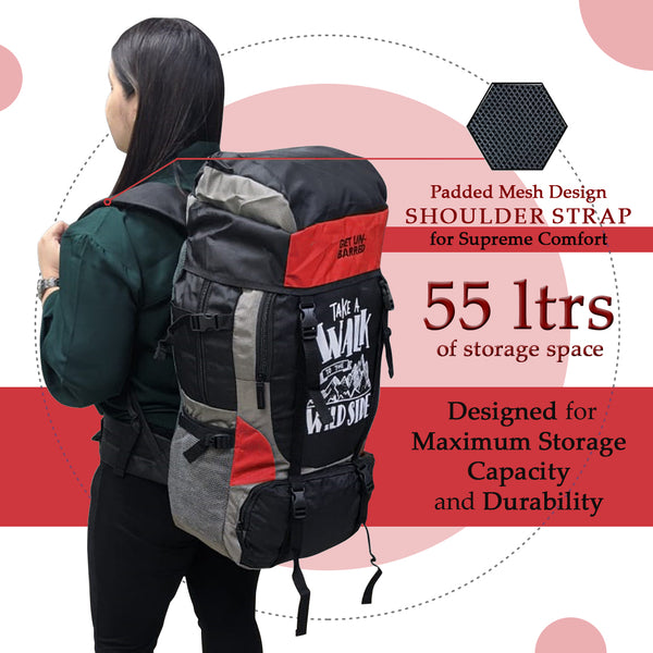 Get Unbarred 55 Litre - Red + FREE Gym Bag 32 Ltr