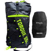Torque 55 Ltr Green Rucksack with Rain Cover