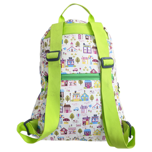 Gini' N' Poko Kids  Backpack- House & Trees