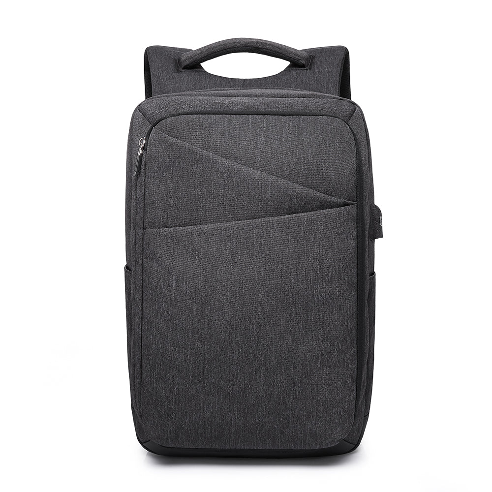 Polyester Kaka Elegant USB Anti Theft Backpack (Black)