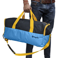 Buddys Duffle Gym Bag 32 Ltr - Blue & Black
