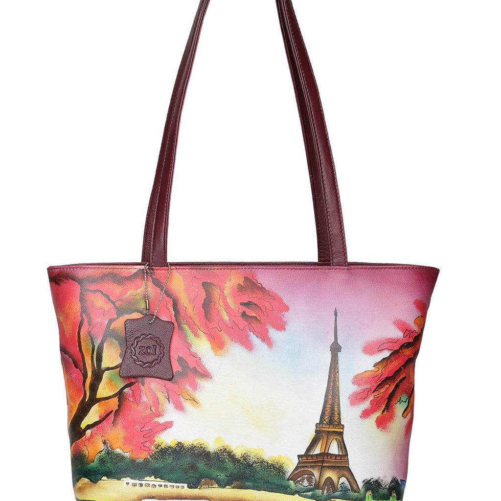 Hand Bag - Eiffel Tower Cherry Red