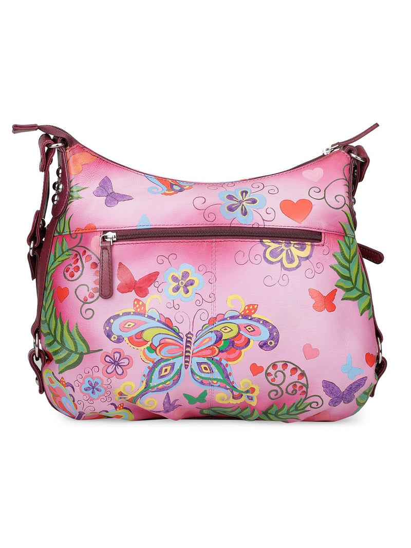 Hobo Hand Bag - Summer Wings Cherry Red