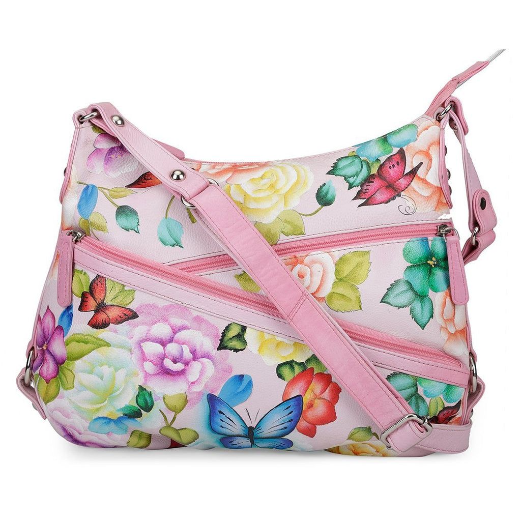 Hobo Hand Bag - Butterfly Paradise Light Pink
