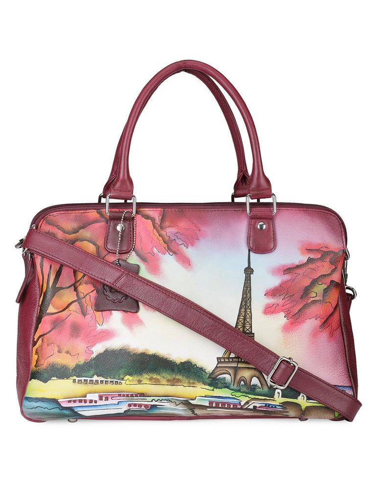 Oversized Hand Bag - Eiffel Tower Cherry Red