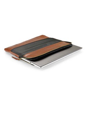 Maestro 13 inch Laptop Sleeve - Tan Gold