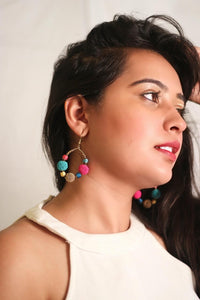 Zoi Stella Cherry Multi Color Beaded Earring