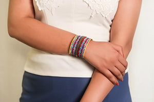 Zoi Stella 17 Layer Multi Color Beaded Bracelet