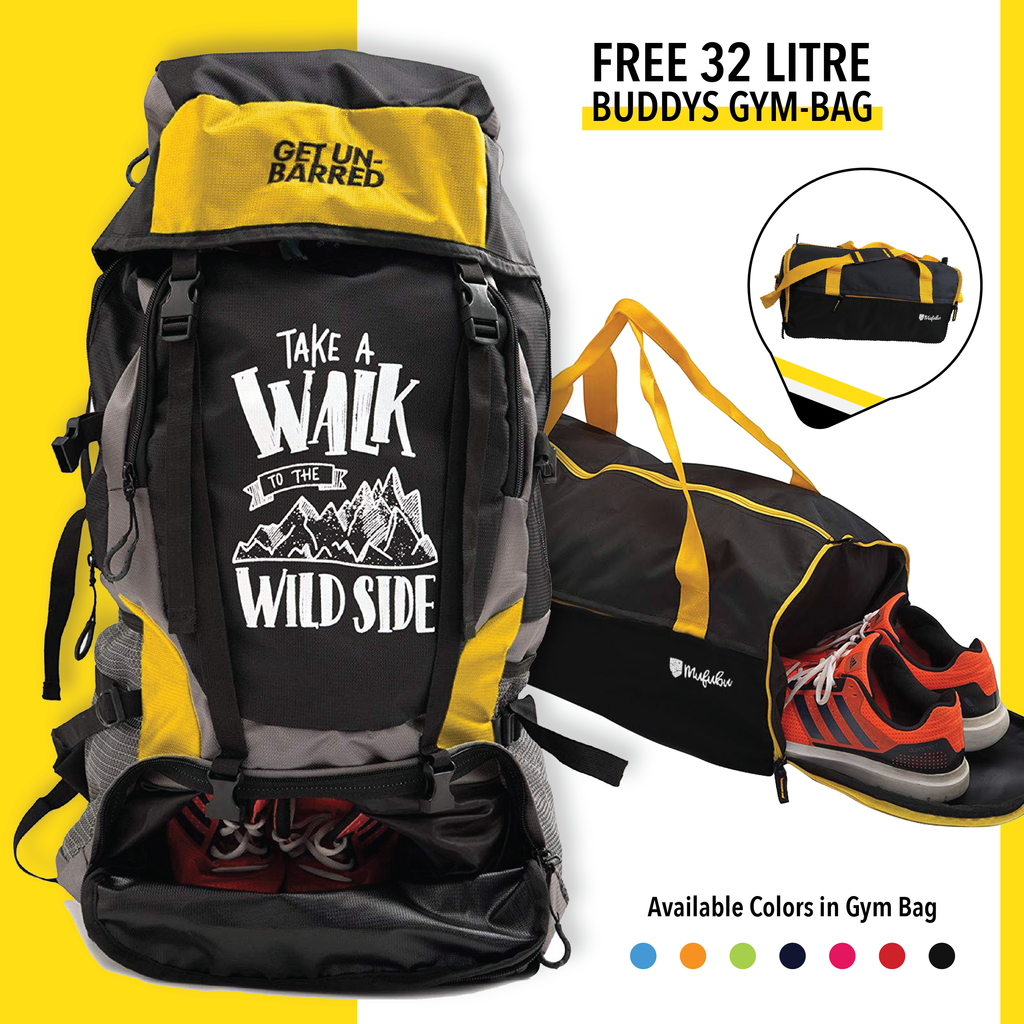Get Unbarred 55 Litre - Yellow + FREE Gym Bag 32 Ltr